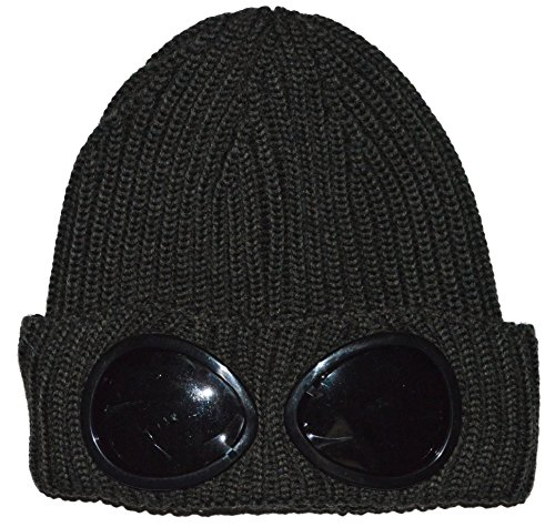 C.P. Company Military Green Goggle Beanie Wool Hat One Size