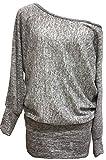 Emma & Giovanni - Sweatshirt - Pullover - Damen (S/M (36-38), Grau)