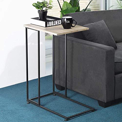 Bakaji tavolino porta pc notebook laptop in metallo e legno dimensioni 35 x 58,5 x 75 cm colore nero e naturale