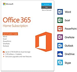 microsoft office 365 home 5 devices 1 year pc mac download software. Black Bedroom Furniture Sets. Home Design Ideas