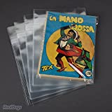 100 Buste Protettive Fumetti Bonelli - Form Cm 17 x 21,3 - Gr 4 Cadauna