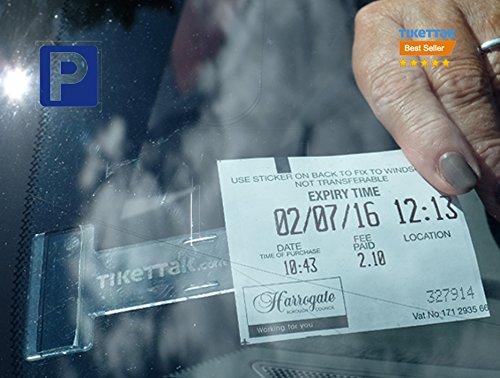 Tikettak, porta biglietti e note per parabrezza auto, camper, caravan (aiuta ad evitare le multe)