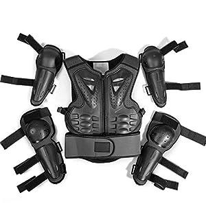 TZTED Schutz Körper Weste Rüstung (5-13 Jahre) Rüstung für Kinder Fahrradschutzanzug Sport Rüstung Knieschützer Ellenbogen