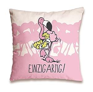 NICI 41940 Flamingo - Cojín de algodón (37 x 37 cm), diseño de flamencos