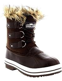 6b3c50d628 Damen Pelz Cuff Schnüren Gummisohle Short Winter Schnee Regen Schuh Stiefel