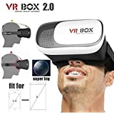 ShopAIS VR Box 2nd Generation Enhanced Version Virtual Augmented Reality Cardboard 3D Video Glasses Headset Compatible with Obi Worldphone SF1 (3GB/32GB)