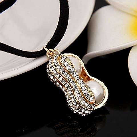 Erica Peanut Perle hängende Halskette / Harajuku Zubehör / Halskette