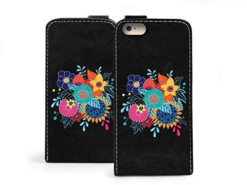 etuo Apple iPhone 8 - Handytaschen, Leder Klapphülle - Zerbrechliche Blumen