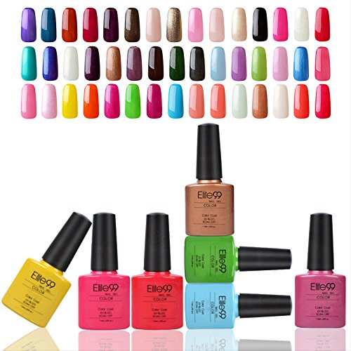 Elite99 Verni A ongles Semi Permanent Soak Off Gel UV LED Nail Art Varnish Manucure 7.3ml*7