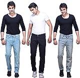 X-CROSS Men's' Slim Fit Jeans Combo- Ice...