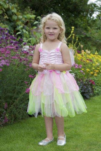Bezauberndes Waldfee Kostüm 'Apfelblüte' - Rosa Fee Kostüm Kinder Gr 128 - Lucy (Runde Kostüme Letzte)