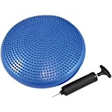 FiNeWaY@ BLUE STABILITY DISC BALANCE PAD WOBBLE AIR CUSHION ANKLE KNEE YOGA BOARD WITH PUMP