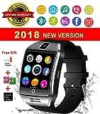 Montre Connectée, Bluetooth Smart Watch Etanche Montre Intelligente avec Caméra Montre Téléphone Sports Bracelet Wrist Watch Smartwatch pour Android Samsung Huawei iOS iPhone Femmes Homme (Argent)