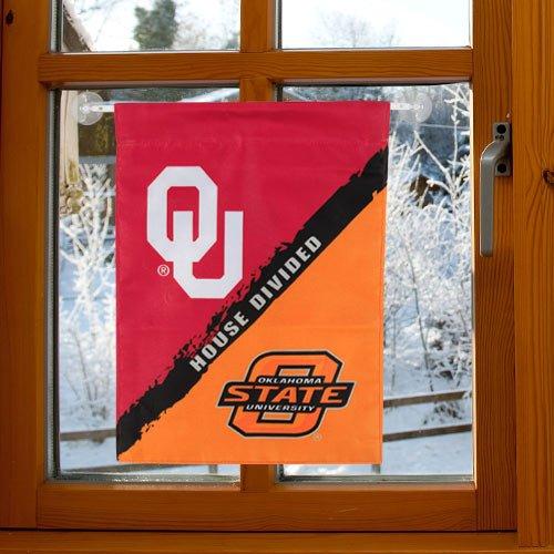 BSI NCAA oklahoma-oklahoma State beidseitigen Garten flag-rivalry Haus unterteilt (Realtree Premium Camo)
