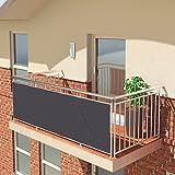 BALCONIO PREMIUM Balkonbespannung - 400 x 85 cm - ANTHRAZIT - wasserabweisend