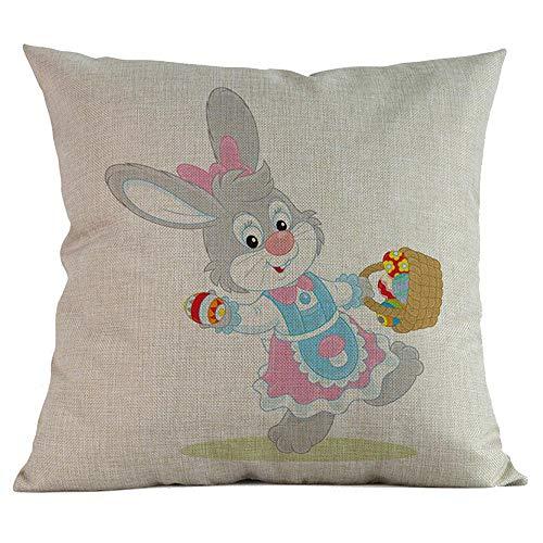 Alikeey bella federa stampa federa morbido cuscino di lino divano copertura soggiorno camera da letto decorazioni federa, 45x45cm