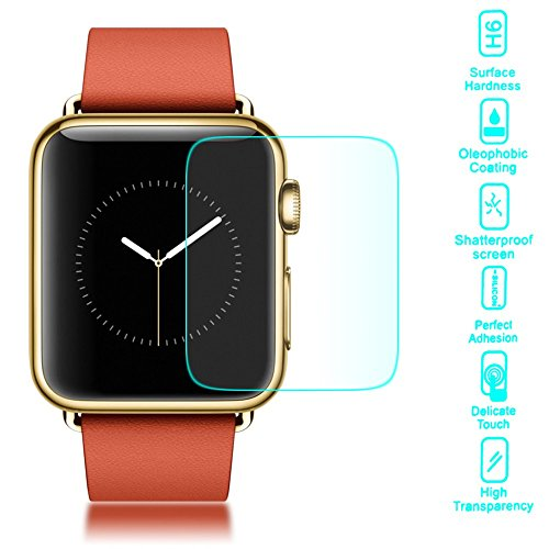delightable24 Pellicola Protettiva Vetro Temprato Glass Screen Protector APPLE WATCH 38mm - Transparente