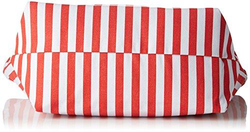 Le Temps des Cerises - Navy _ Ltc3w46, Cabas Donna Rouge (Rayures Rouge Blanc)