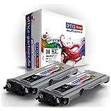 2x Compatible Brother TN2120 (noir) - Supérieure Qualité Toner pour Brother HL-2140 / 2150N / 2170W ; DCP-7030 / 7040 / 7040 / MFC-7320 / 7440N / 7840W