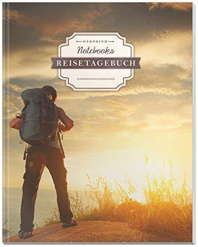 DÉKOKIND Reisetagebuch: DIN A4, 100+ Seiten, Register, Vintage Softcover   Auch als Abschiedsgeschenk   Motiv: Bergsteiger