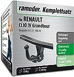 - 514ZZhEBWwL - Rameder Komplettsatz, Anhängerkupplung starr + 13pol Elektrik für RENAULT CLIO IV Grandtour (117166-10870-1)