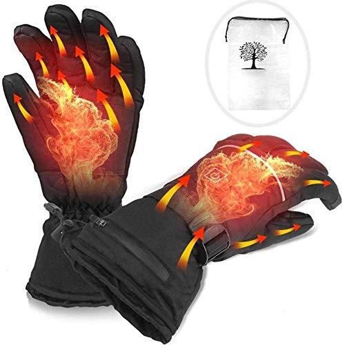 YXRPK Elektrische Beheizbare Handschuhe Winterhandschuhe Batterie Beheizt, Skihandschuhe Reiten Laufen Skifahren Wandern Radfahren Motorrad