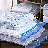 ASAP CHIC sacchetti per sottovuoto, 3da 70cm x 50cm (80% più compressione concorrenti) Best sottovuoto per vestiti, coperte, lenzuola, cuscini, coperte, tende