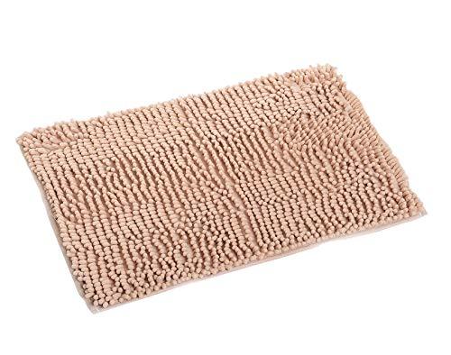 Pahajim tappetino da bagno tappeto assorbente antiscivolo da bagno in ciniglia tessuto morbido tappeto bagno 80x 50cms (grigio), light brown, 80 x 50 cms