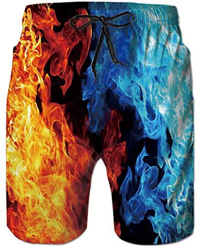 Goodstoworld Hombre Bañador Shorts 3D Playa Natacion Pantalon Corto Poliéster Secado Rápido Ligero...