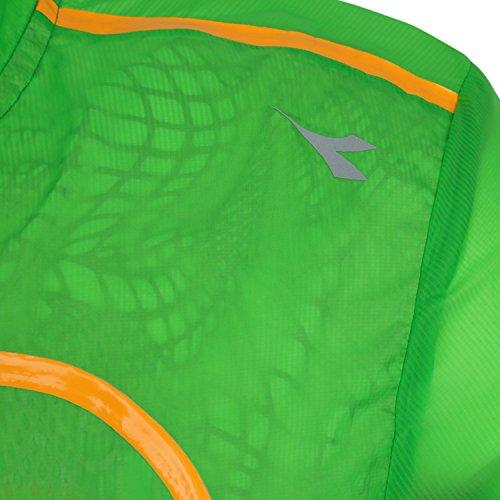 Diadora Running Wind Jacket Herren Grün Neon