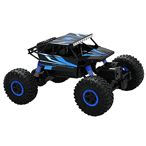 Top Race BLUE tr-130 2.4 GHz Batteries Remote Control Rock Crawler/Monster Truck 4WD/Off Road Vehicle Toy