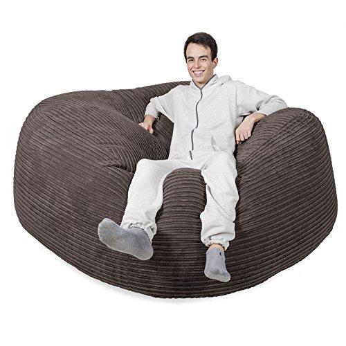 Lounge Pug, 'Mega-Mammoth' Sofa Sitzsack XXL, Schlafsofa, Cord Schiefergrau