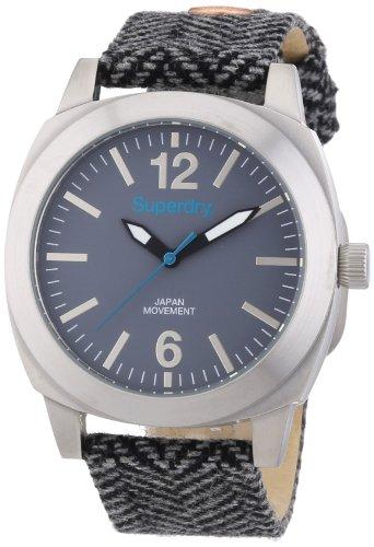 Superdry SYL129E - Reloj analógico de cuarzo para mujer, correa de tela multicolor