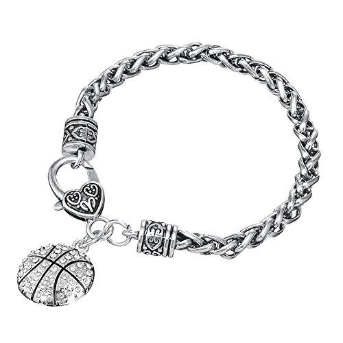 ball Kristall Karabinerverschluss Armband Sport Frauen & Mädchen 750 ()
