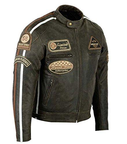 *Retro Motorrad Lederjacke in braun (M)*