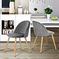 grey dining chairs dining room furniture home kitchen. Black Bedroom Furniture Sets. Home Design Ideas