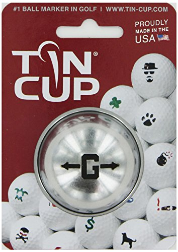 TIN CUP. GOLF BALL MARKER SYSTEM. ALPHA PLAYERS SERIES. LETTER G