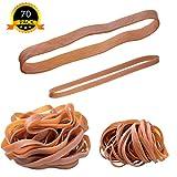 70 grandes bandes élastiques en caoutchouc pour bureau famille scolaires, 100 x 5 mm, 160 x 10 mm, jaune foncé