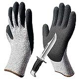 LIGHTOP Schnittfest Handschuhe Küche Handschuh und Safty Handschuhe Schnittfest,stichfest, Rutschfest, verschleißfest für Schneiden zum Hand Schutz und Yard-Work Level 5 Schutz