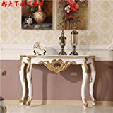 LZL Table, European style entrance hall, table entrance cabinet, fashionable entrance hall, decorative table, solid wood furniture,White gold