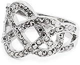 Leonardo Jewels Damen-Ring Gordiano edelstahl Glas transparent Gr. 60 (19.1) - 015872