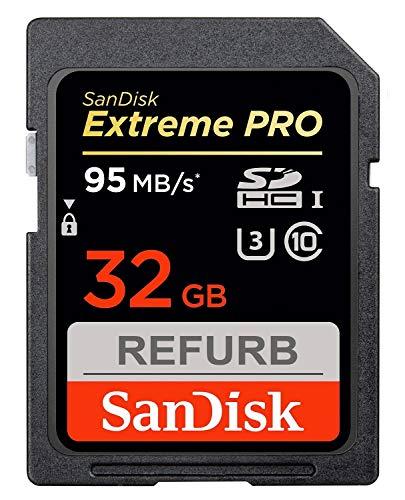 SanDisk Extreme Pro SDHC 32GB Class 10 Speicherkarte (bis zu 95MB/s lesen) (Zertifiziert und Generalüberholt)