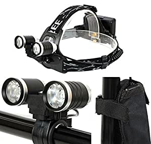 GorEAD CREE XPE R2 Lampe frontale 2 LED 5 modes 1200 lm