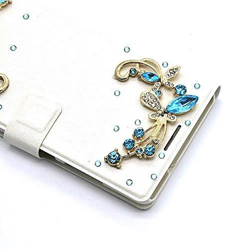 3D Coque iPhone 8 Plus Housse Étui 3 en 1 PU Cuir Case, Vandot Luxe Brillant Diamant Coque Bling Bling Cristal Strass Cover Motif Ange Elf Couverture Magnetic Flip avec Support Stand Wallet Case pour  Diamant 29