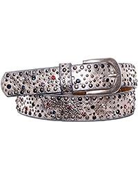 Gadzo® Damen Gürtel Nieten strass bunt Vintage Look kürzbar teil Leder Kamari24