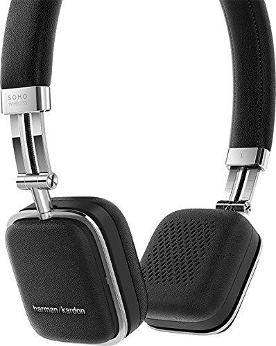 Harman Kardon Soho Wireless On-Ear Mini Kopfhörer (NFC, Bluetooth, faltbarer, tragbarer, geeignet für Apple iOS/Android Smartphones/Tablets/MP3 Geräten) schwarz - 3