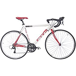 "28"" KCP ROAD RACING BIKE RUN 2.0 ALLOY 16 speed SHIMANO SORA white red - (28 inch)"