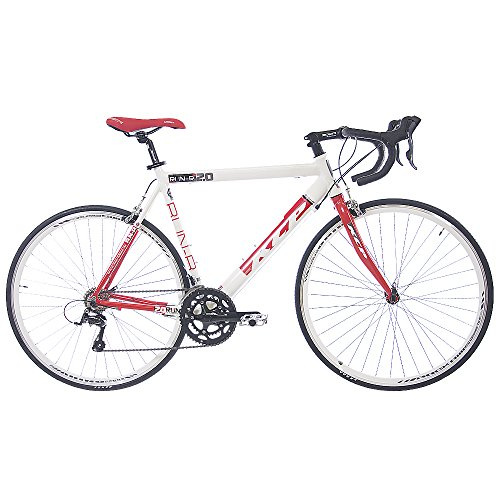28 KCP ROAD RACING BIKE RUN 2 0 ALLOY 16 SPEED SHIMANO SORA WHITE RED   (28 INCH)