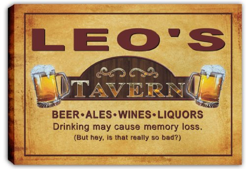 scpx1-0168-leos-tavern-pub-beer-bar-stretched-canvas-print-sign