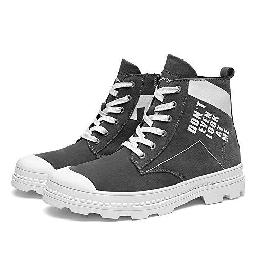 moda maschile, tempo libero, tela, scarpe, pu scarpe, martin gli stivali, inglese antico forte vento e le scarpe gray